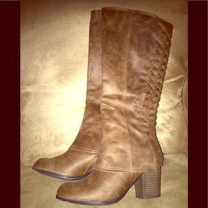 Only Worn Twice! Brown Heeled Boots!